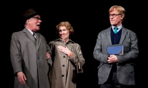 Jeff Rawle, Gabrielle Lloyd and Alex Jennings in Cocktail Sticks at the National Theatre