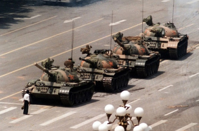 Tank Man of Tiananmen Square by Jeff Widener