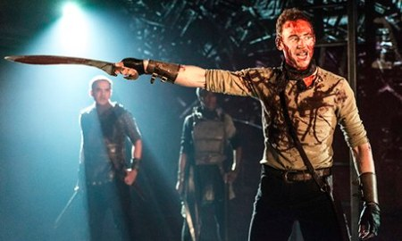 Tom Hiddleston as Coriolanus at the Donmar Warehouse