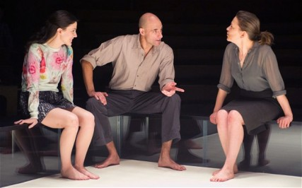 Phoebe Fox, Mark Strong and Nicola Walker in A View from the Bridge