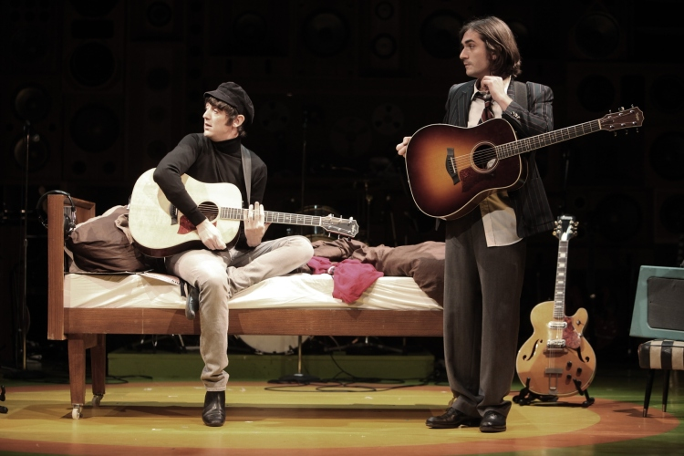 John Dagleish as Ray Davis and George Maguire as Dave Davis in Sunny Afternoon. Credit: Kevin Cummins.