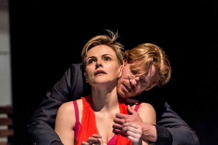Maxine Peake (Dana) and Michael Shaeffer (Jarron) in How to Hold Your Breath at the Royal Court Theatre. Pictures Manuel Harlan.