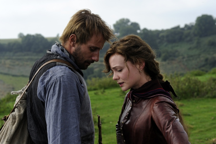 Matthias Schoenaerts as Gabriel Oak and Cary Mulligan as Bathsheba Everdene in Far From The Madding Crowd