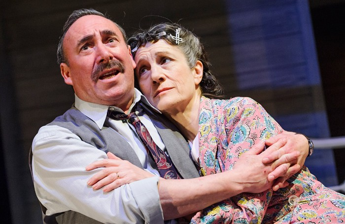 Antony Sher and Harriet Walter in the RSC's Death of a Salesman