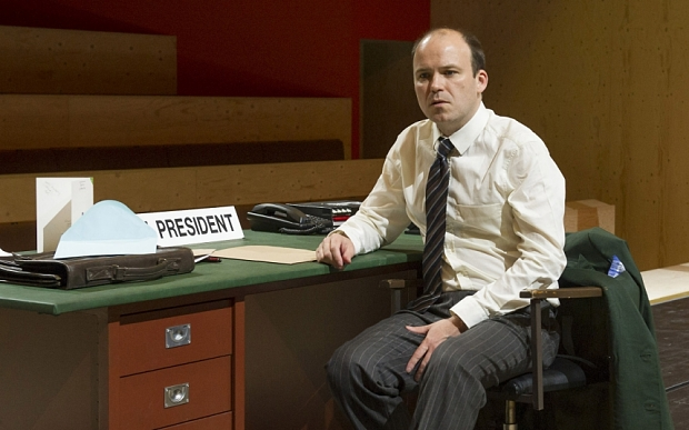 The Trial performed at the Young Vic Theatre Rory Kinnear as Josef K, ©Alastair Muir