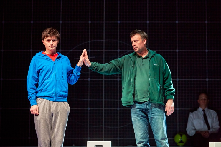 Joshua Jenkins and Stuart Laing in The Curious Incident of the Dog In The Night-Time