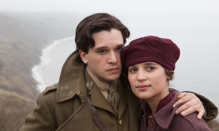 Kit Harington and Alicia Vikander in the 2015 film of Vera Brittain's Testament of Youth