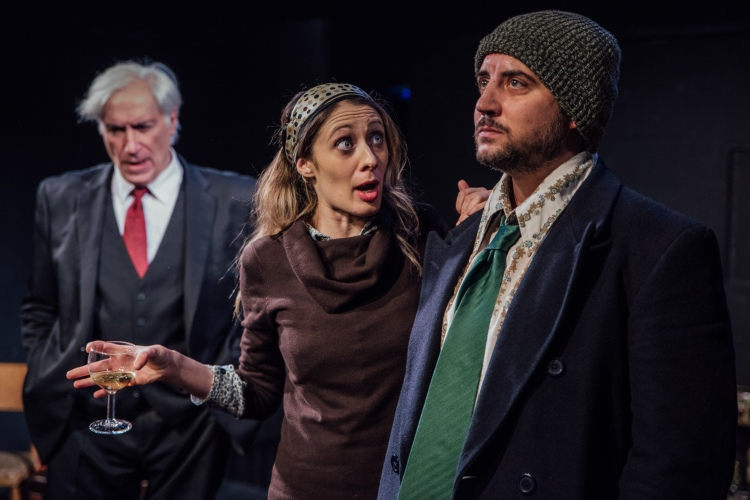 Jack Klaff as Alessandro, Ilaria Ambrogi as Gina and Jack Gordon as Antonio in Screaming Secrets.