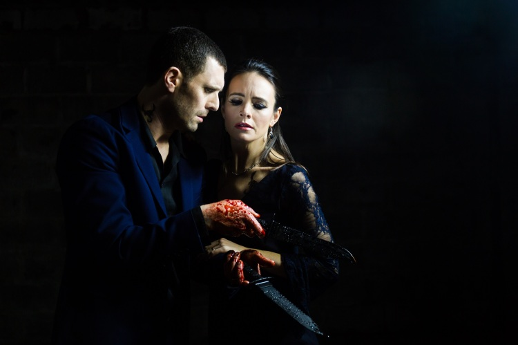 Jonathan Goddard and Eleanor Duval as the Macbeths